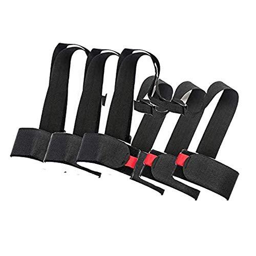 3 Pack Ski Tracolla Regolabile Poliestere Ski Tracolla per Snowboard Sci, Racchette da Sci e Scarponi da Sci, Ski Tracolla Spalla Sferza Maniglia Strap con Imbottito
