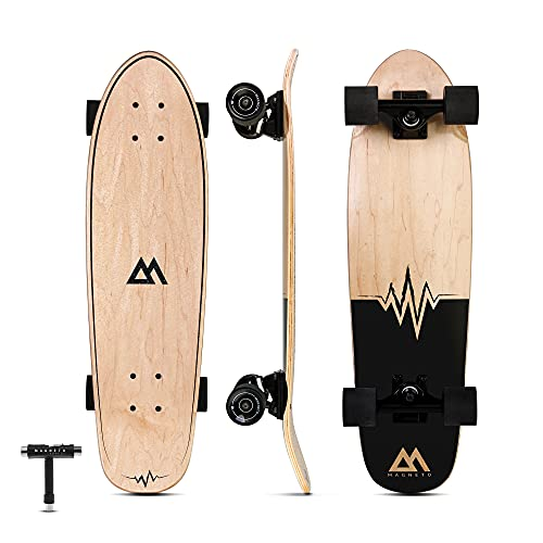 Magneto Mini Cruiser Skateboard Cruiser | Short Board | Canadian Maple Deck -...
