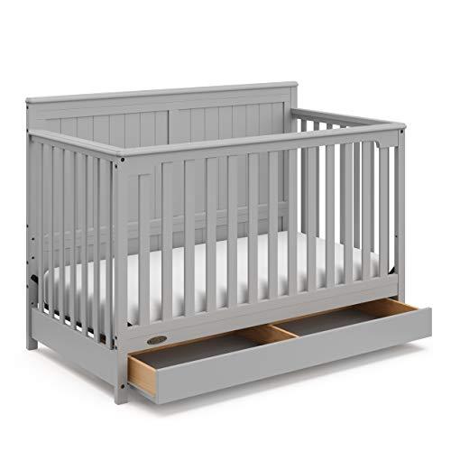 Graco Hadley Baby Crib, Pebble Gray
