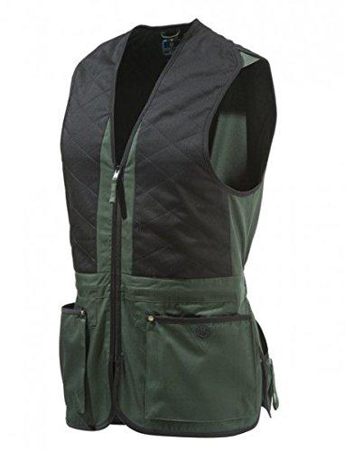 Beretta - Gilet technique TRAP - Gilet de coton noir et vert - Unisexe, xxl