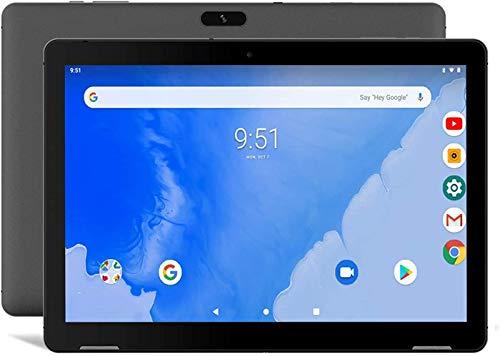 Tablet 10 Zoll Android 9.0 Pie - Winnovo T10 3GB RAM 32GB Speicher Quad Core 10,1 Zoll HD IPS Dual WiFi Front Zwei Lautsprecher GPS Bluetooth HDMI Google Verified (Schwarz)