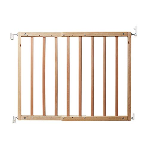 Primetime Petz 33719 Safety Mate Expandable Pet and Baby Gate, Sturdy Wall Mountable Safety Gate for Hallways, Stairs, or Outdoor Use, Fits Openings from 24.5 to 41, Natural