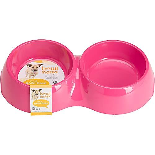 Petco Bowlmates Pink Double Round Base, 3 Cup, Medium