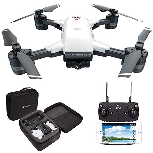 le-idea GPS Drone con Telecamera 1080P HD grandangolare Video in Diretta, 5GHz WiFi FPV Trasmissione Quadricottero, Facile per Principianti, Borsa per Il TrasportoVersione Aggiornata IDEA10