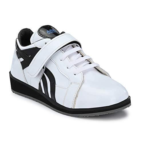 PRO ASE Men's White Weight Lifting Shoes - 7 UK