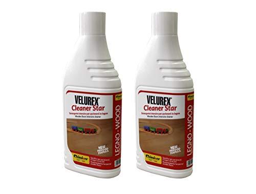 Chimiver Detergente Multiuso per la Pulizia del parquet Verniciato VELUREX Cleaner Star Kit 2 Pezzi...