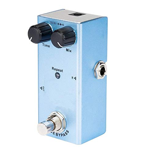 Lwieui Guitar Effects Uitar Effect Pedal Crunch Distortion With True Bypass Blue Distortion & Overdrive (Color : Blue, Size : 9.1 x 3.2 x4cm)