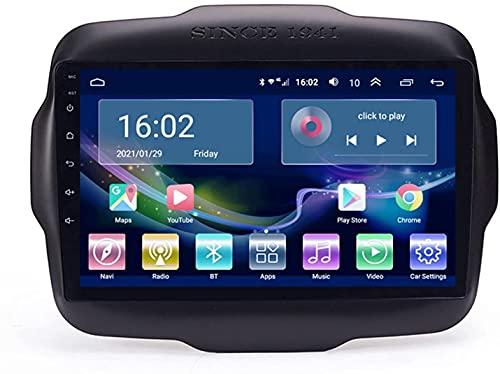 SAJK Autoradio per Jeep Renegade 2016-2018 Radio Navigation Player Android 10.0 unità Principale Carplay Touchscreen IPS da 10.1 Pollici BT/WiFi con Telecamera di Backup
