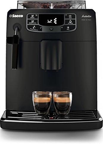 Saeco HD8900/01 Macchina Espresso Automatica Intelia, Dimensione 25,4 x 34 x 44,4 cm, Nero