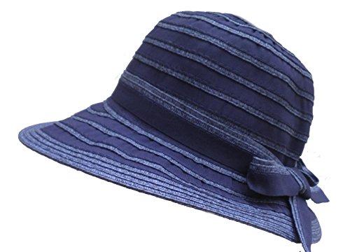 Damenhüte Schlapphut Kofferhut Urlaub Strand Garten Freizeit Sonnenschutz (Blau)