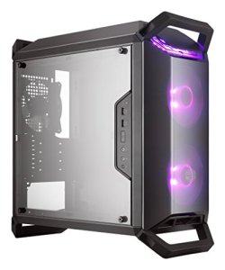 Cooler Master MasterBox Q300P Micro-ATX with Dual 120mm ARGB Fans, Front/Top Dark Mirror Panel, Transparent Acrylic Side Panel, Adjustable I/O  & RGB Lighting System