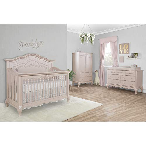 Product Image 2: Evolur Aurora 5-in-1 Convertible Crib, Blush Pink Pearl