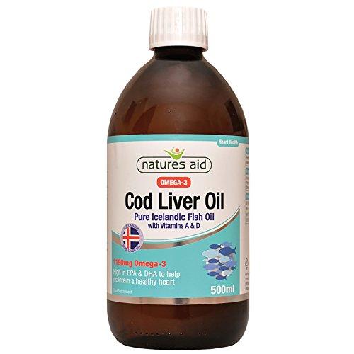 Natures aide 500ml de foie de morue huile liquide