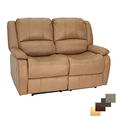 RecPro Charles | 58' Double Recliner RV Sofa | RV Zero Wall...