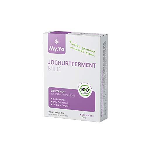 My.Yo - Fermento de yogur orgánico suave   6 x 5 g   Fermento para hasta 30 l de yogur casero.
