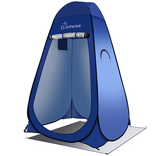 WolfWise Pop up Toilettenzelt Umkleidezelt, Camping Duschzelt Outdoor Mobile Toilette Umkleidekabine Lagerzelt Tragbar, Blau