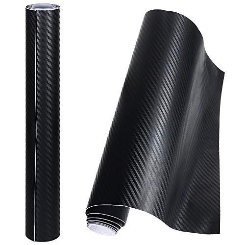 Anpro 2 Rollos Vinilo Coche Fibra de Carbono Adhesiva 3D / C