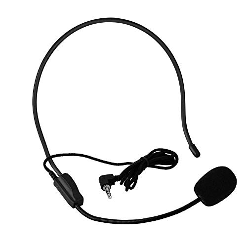 MIni Head Mount Wired Microphone Headworn Microphone Condenser Microphone, Audio Amplifier, Teacher, Coach, Presentation, Tour Guide