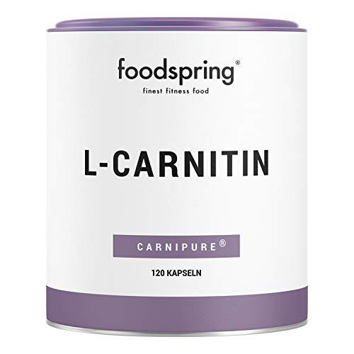 foodspring L-Carnitin Kapseln, 120 Stück, Vegan, Ideal für das Figur-Training mit 1200mg Carnipure pro Portion