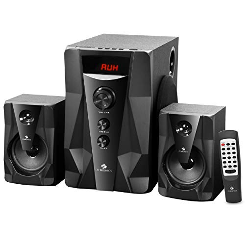 Zebronics Zeb-Omega 2.1 Multimedia Speaker with Bluetooth Supporting,USB,SD,AUX,Built-in FM and Remote Control
