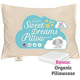 THE BEST TODDLER PILLOW: My Little North Star's organic toddler pillow is the answer for parents who want the best sleep for their young ones; Our 13x18 baby pillow is perfect for children ages 2 to 5 years old. Soft and supportive and made in Americ...