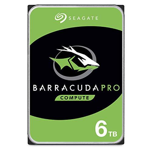 Seagate BarraCuda Pro Performance Internal Hard Drive SATA HDD 6TB 6GB/s 128MB Cache 3.5-Inch (ST6000DM004)