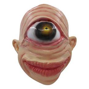 supremask Alien Costume Halloween Scary Saucer Hombre Disfraz Latex Disfraz Divertido Blanco (One-Eye Alien)