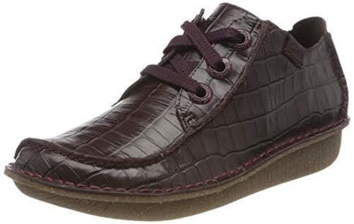 Clarks Funny Dream, Zapatos de Cordones Derby Mujer, Morado (Borgoña), 38 EU