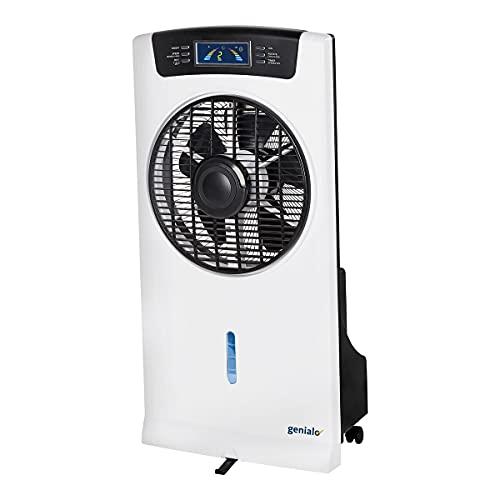 genialo Lufterfrischer 4 in 1, Ventilator, Luftbefeuchter, Lufterfrischer, Klimagerät, Luftkühler, Klimaanlage, Ionisator, Kunststoff, 39,5 x 25 x 79 cm