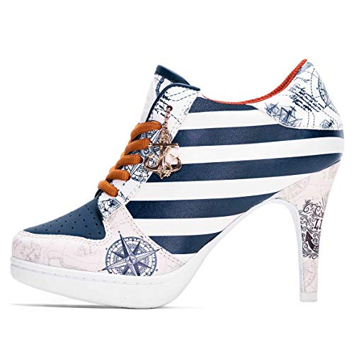 MISSY ROCKZ Welcome on Board 2.0 blanco/azul, color Multicolor, talla 41 EU