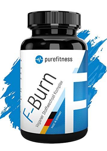 PREMIUM F-BURN Veganer Stoffwechsel Komplex I 100 Kapseln I Hochdosiert von Bodyexperten entwickelt I Grüntee & Grüne Kaffeebohnen Extr. I Carnitin