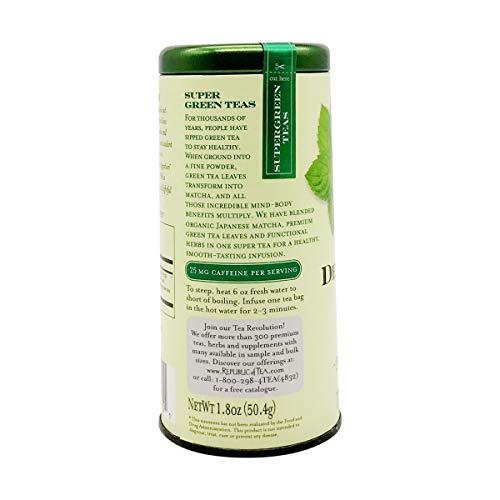 The Republic of Tea Detox Green Supergreen Tea, 36 Tea Bags, Matcha And Chlorella Tea Blend 2