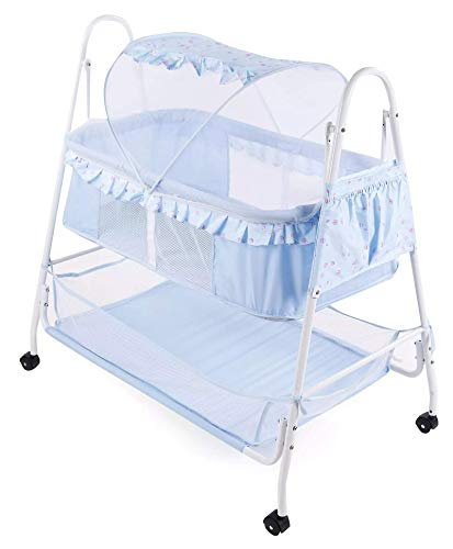 Baby On Board Baby Cradle Bassinet with Mosquito Net (Blue)