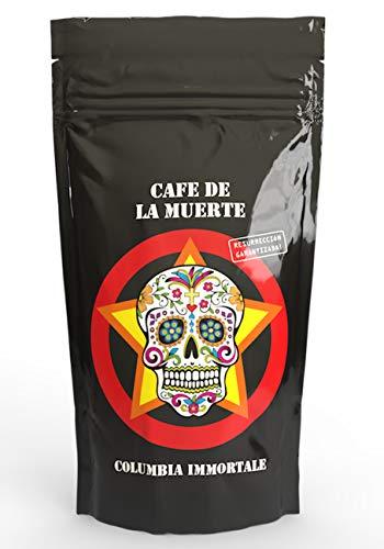 Cafe de la muerte | Starker Kaffee Starkes Design Tolles Geschenk| Kaffee-bohnen Trommelröstung | Mit toller Karte