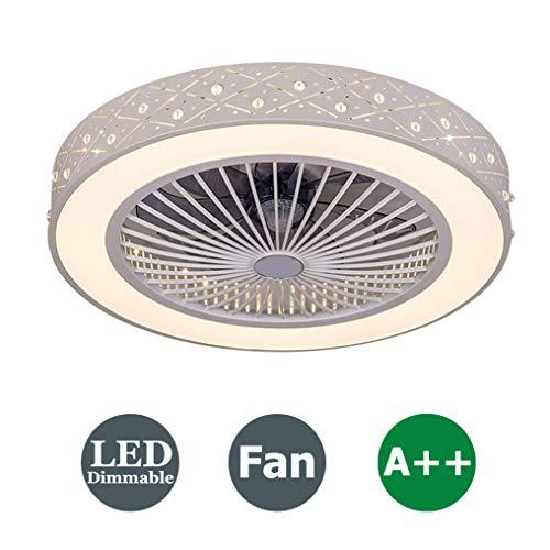 XMYX Fan Deckenlampe Deckenventilator mit LED Beleuchtung und Fernbedienung Leise Ventilator Kreative Unsichtbare Deckenventilatoren Beleuchtung für Kinderzimmer Wohnzimmer Schlafzimmer, 36W, Ø59cm