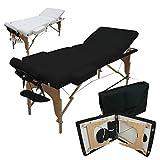 Vivezen Table de massage 13 cm pliante 3 zones en bois avec panneau Reiki + Accessoires et housse...
