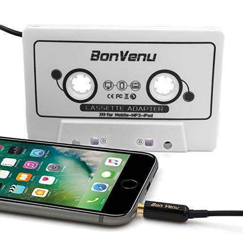 Adattatore Cassetta Aux audio per auto Reshow Premium - Ausiliario per cruscotto, lettore mp3 e smartphone