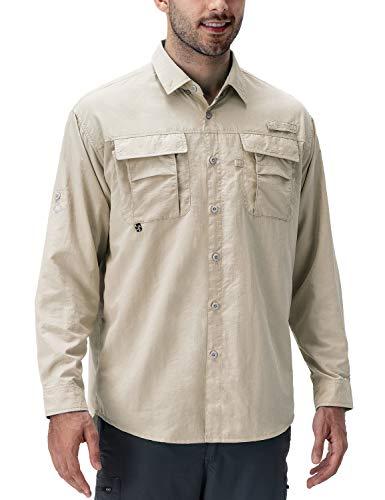 NAVISKIN Camisa Casual UV UPF 50+ de Manga Larga para Hombre Camiseta Deporte Térmica Pesca...
