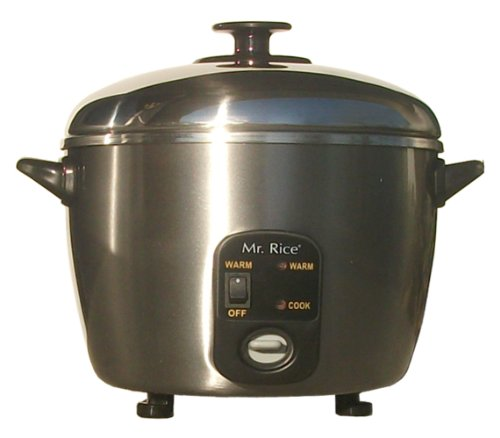 3 Cups Stainless Steel Cooker and Steamer with Stainless Steel Inner Pot