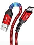 JSAUX Câble Micro USB [1M+2M/Lot de 2] Durable 3A Charge Rapide Câble Micro...