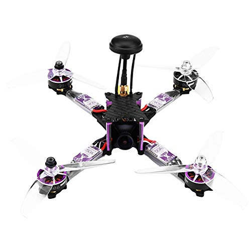 Quadcopter da Corsa RC, Fibra di Carbonio BLHeli 32 ESC 2306 1800KV Motore Modello RC Drone con Micro Telecamera(Senza Ricevitore per FRSKY XM)