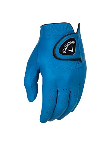 Callaway, Guanti da Golf in Pelle da Uomo, OptiColor, Uomo, Gloves, Blue, S
