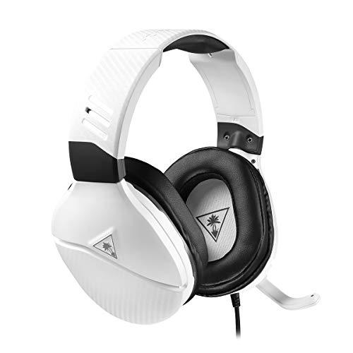 Turtle Beach Recon 200 Weiß Gaming-Kopfhörer mit Verstärker - PS4, PS5, Xbox One, Nintendo Switch und PC