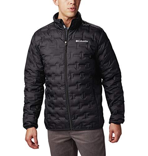 Columbia Mens Delta Ridge Down Winter Jacket, Insulated, Water repellent, Medium, Black