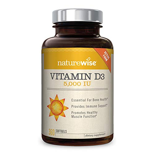 NatureWise Vitamin D3 5,000 IU (1 Year Supply) for Healthy Muscle...