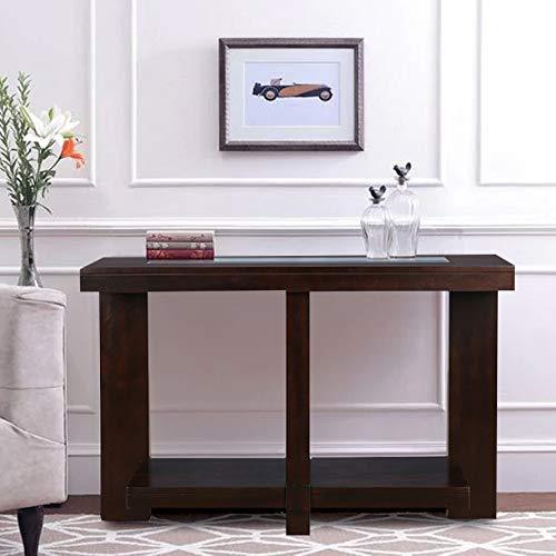 HomeTown Joss Engineered Wood Console Table in Dark Walnut Colour