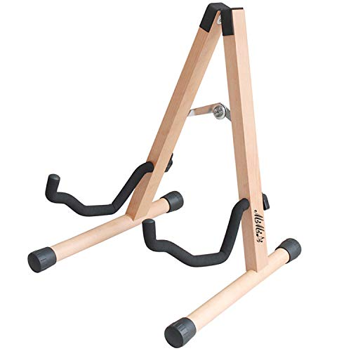 Guitar Stand,MIMIDI Wood Foldable Guitar Stand Accessories for Acoustic,Electric,Bass Guitars (Burlywood)