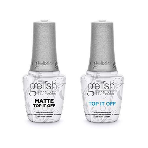 Gelish Matte & Gloss Duo Top It Off Soak Off Gel Nail Polish Sealer Clear Coat