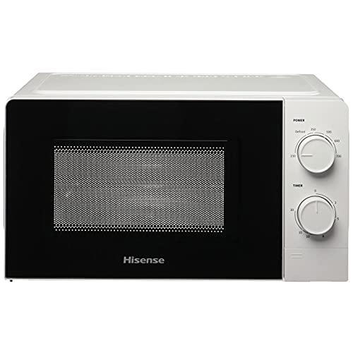 Hisense H20MOWS1 Forno Microonde con Controllo Meccanico, Capacit 20 L, Potenza 700 Watt su 6 Livelli, Colore Bianco