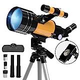 Télescope Astronomique,70/300mm Télescope Réfracteur Astronomique avec...